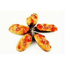 Запечённые мидии киви под сырным соусом